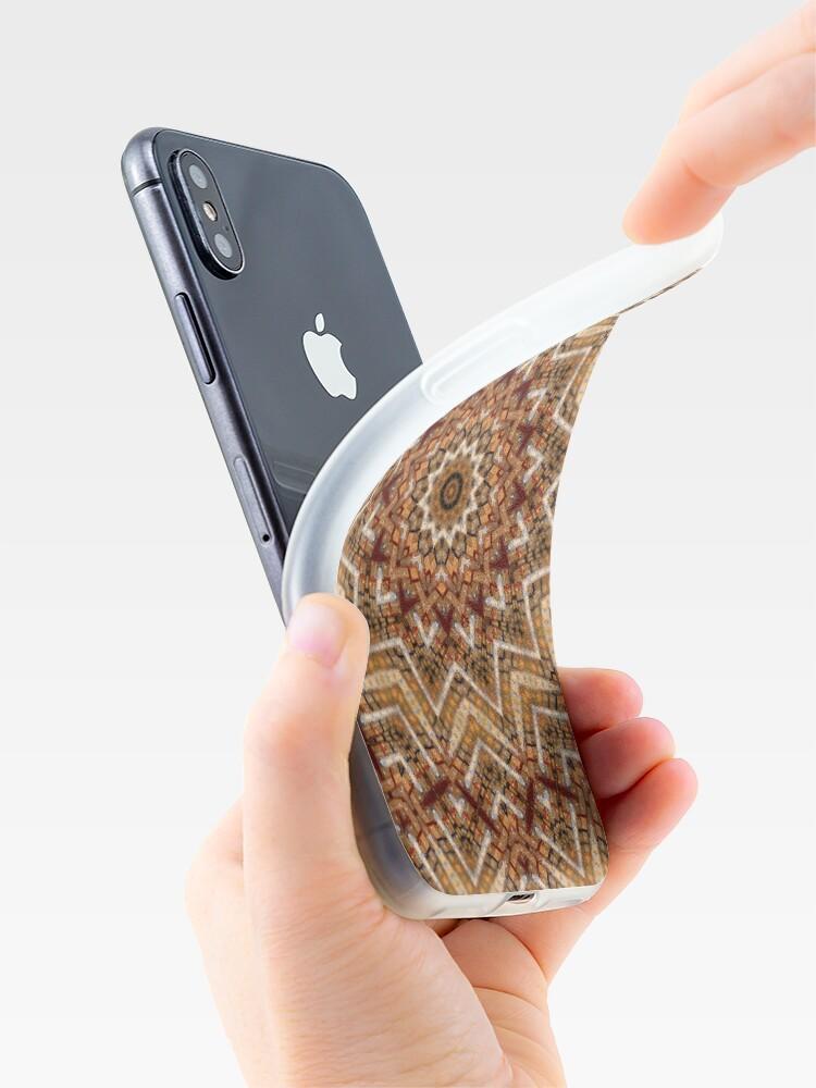 Alternative Ansicht von Hell- und dunkelbraunes Mandala iPhone-Hülle & Cover