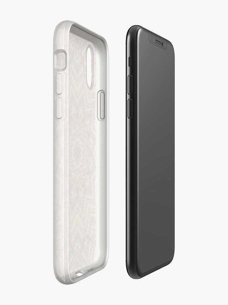 Alternative Ansicht von Hell- und dunkelbraunes Mandala iPhone-Hüllen & Cover
