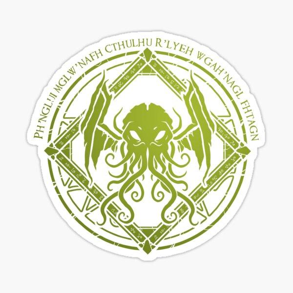 Cthulhu - Lovecraft - Chant design Sticker