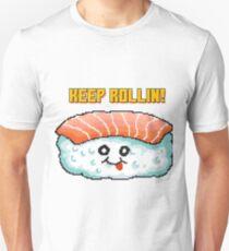 Sushi Pixel Art Food Character Geschenk Idee Slim Fit T-Shirt