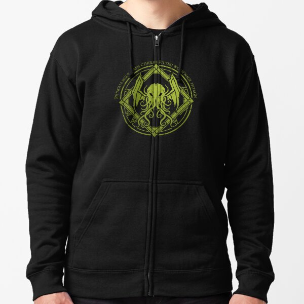 Cthulhu - Lovecraft - Chant design Zipped Hoodie