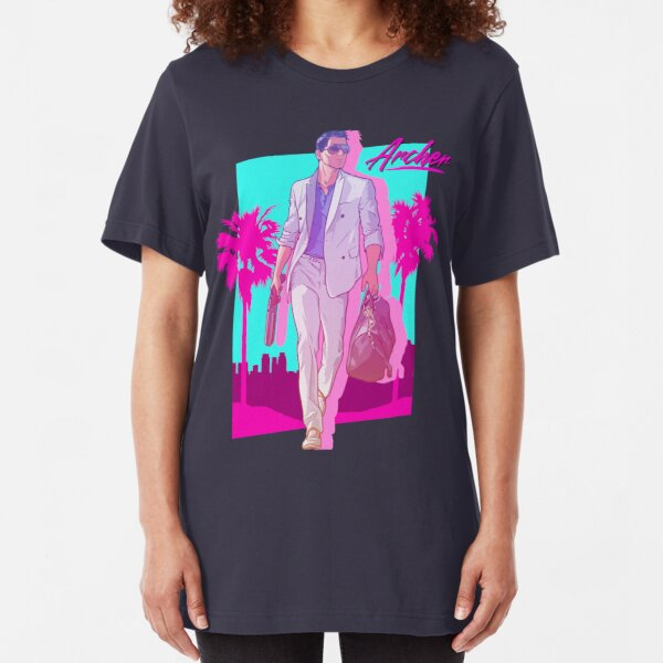 Archer - Vice Palm 80s  Slim Fit T-Shirt