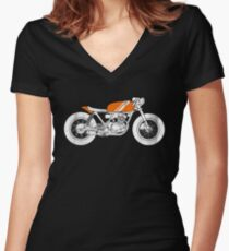 Café Racer – Reverse Women's Fitted V-Neck T-Shirt