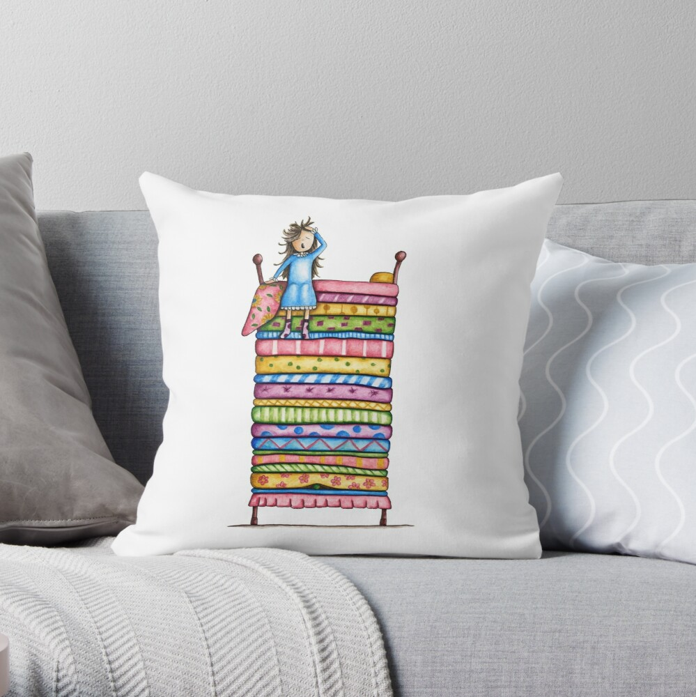 Princess and the Pea Throw Pillow