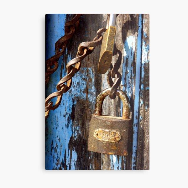 Locks in Sirince, Turkey Metal Print