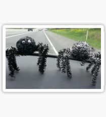 Two hitchhiking spiders Sticker