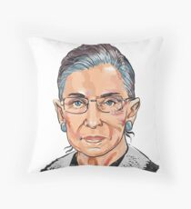 Supreme Court Justice Ruth Bader Ginsburg Throw Pillow
