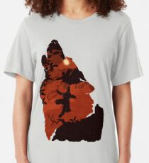 Sekiro - One Armed Wolf (Red) Slim Fit T-Shirt