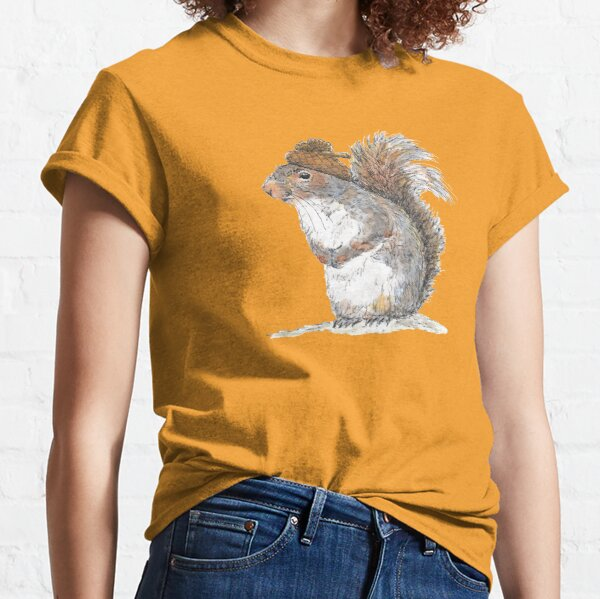 Squirrel with an Acorn Hat Classic T-Shirt