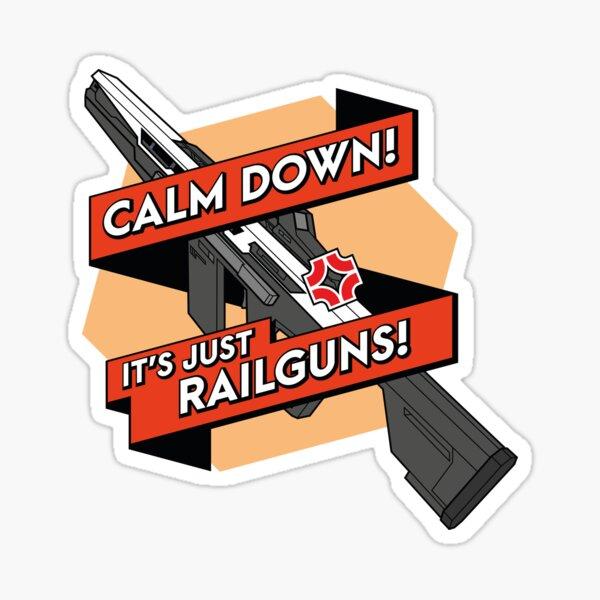 [EN] It's just railguns Sticker