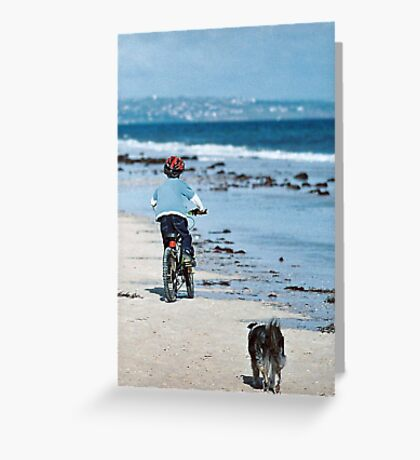 """Winter At The Beach - Two Souls"" Greeting Card"