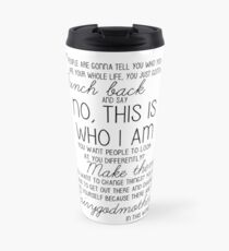 Once Upon a Time - Emma Swan Quote B&W Travel Mug