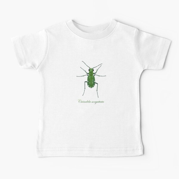 Six-spotted green tiger beetle, Cicindela sexguttata Baby T-Shirt