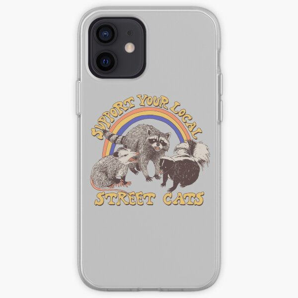 Gatos callejeros Funda blanda para iPhone