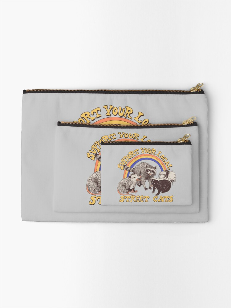 Alternate view of Street Cats Zipper Pouch