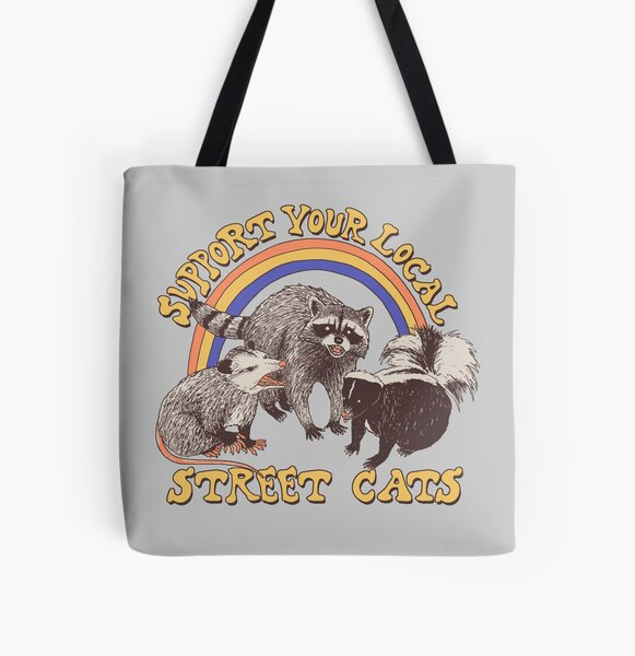 Street Cats All Over Print Tote Bag