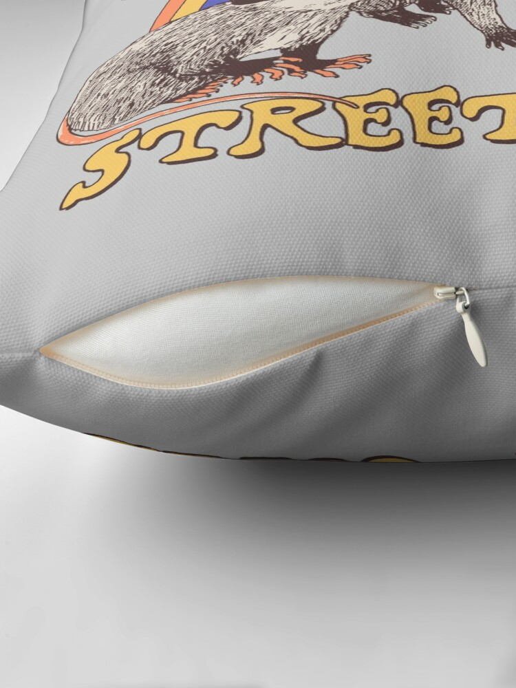 Alternate view of Street Cats Throw Pillow