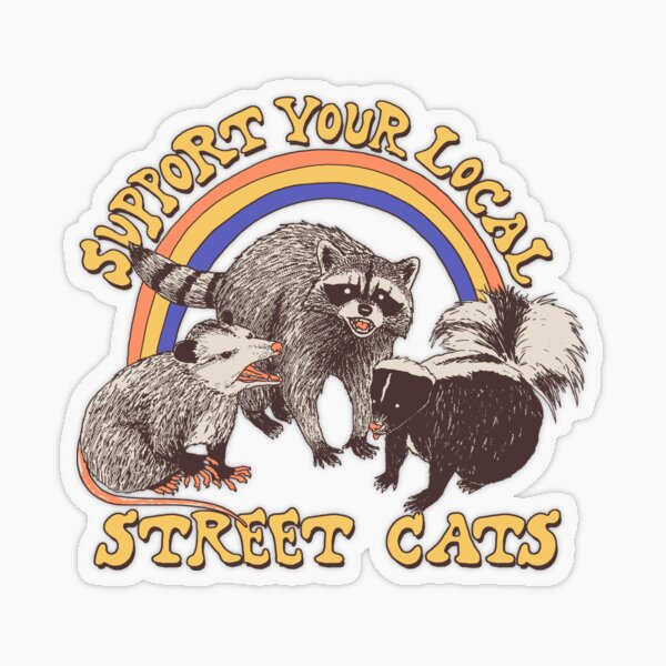Street Cats Transparent Sticker