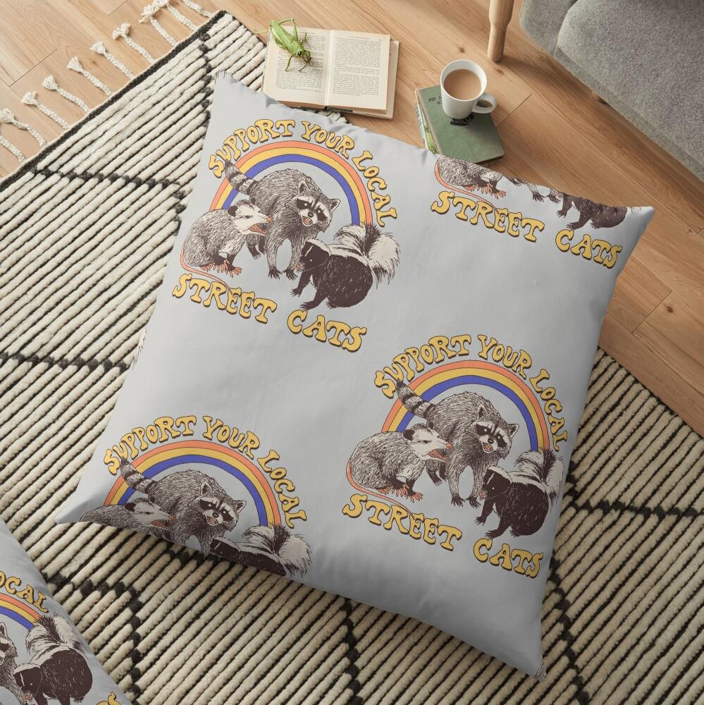 Street Cats Floor Pillow