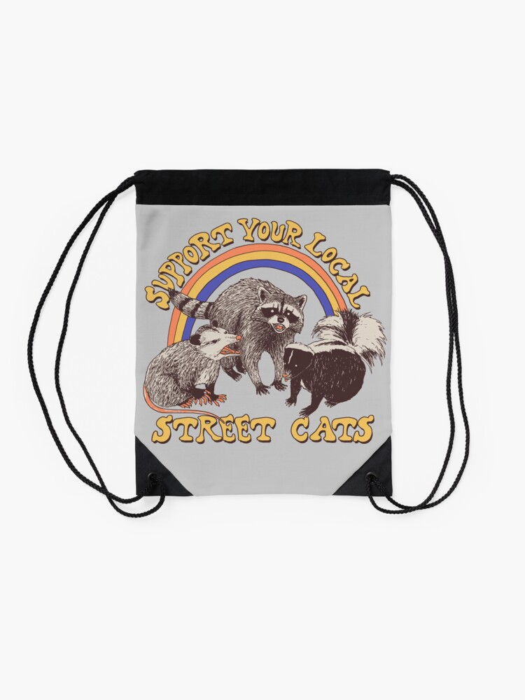 Alternate view of Street Cats Drawstring Bag