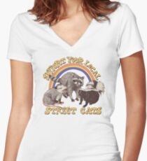Street Cats Women's Fitted V-Neck T-Shirt
