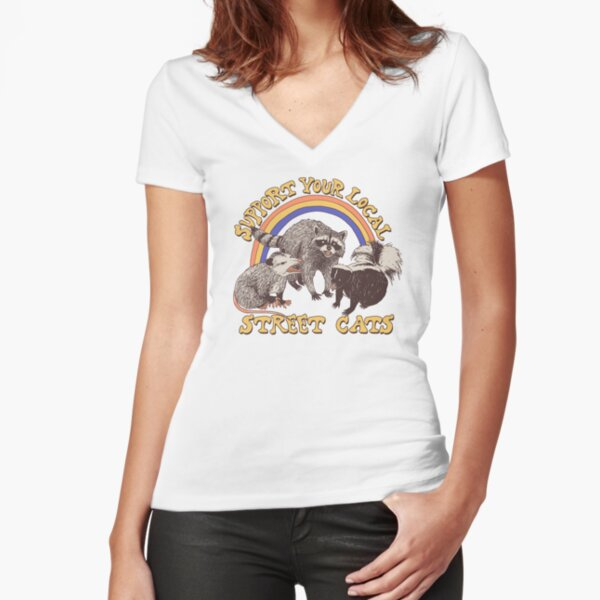 Street Cats Fitted V-Neck T-Shirt