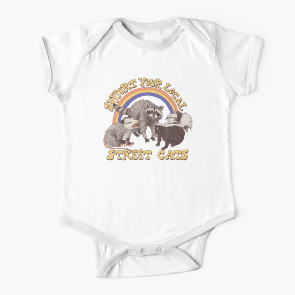 Street Cats Short Sleeve Baby One-Piece