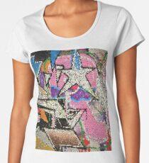 GRAFFITI MOSAIK MIT STERN STREETART Premium Rundhals-Shirt