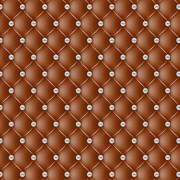 Elegant Coffee Brown Diamond Tufted Look Upholstery Pattern by jollypockets