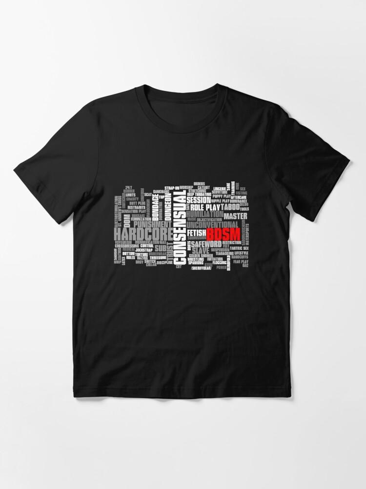 Alternate view of BDSM words cloud Essential T-Shirt