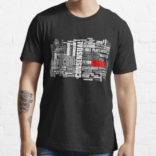 Nuage de mots BDSM T-shirt essentiel