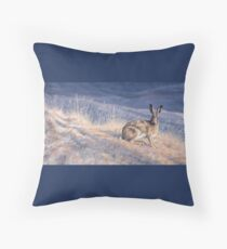 Alert Brown Hare Floor Pillow