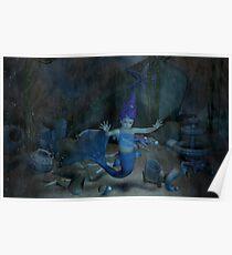 Captured Baby Mermaid  Poster