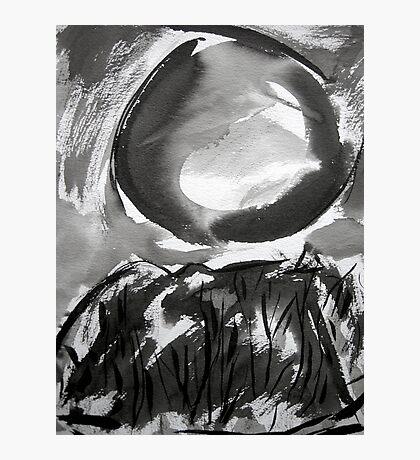 falling moon... Photographic Print