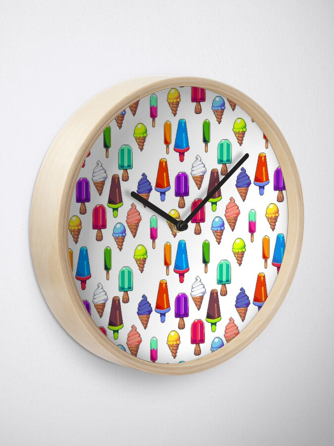 Alternate view of Popsicles! Clock