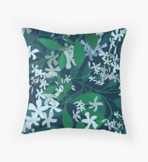 Star Jasmine at Night Throw Pillow