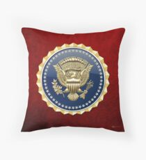 Presidential Service Badge - PSB 3D on Red Velvet Throw Pillow