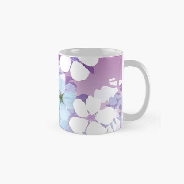 Almond Blossoms Graphic Violet Classic Mug