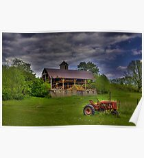 The Little Red Tractor Poster