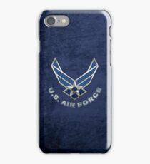 U.S. Air Force - USAF Logo 3D on Blue Velvet iPhone Case/Skin