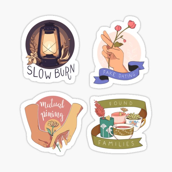 the tropes are hungry - sticker set Sticker