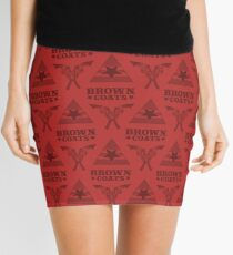 Browncoats forever, Firefly Pattern in Red Mini Skirt