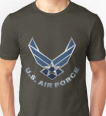 U.S. Air Force - USAF Logo 3D on Red Velvet T-Shirt