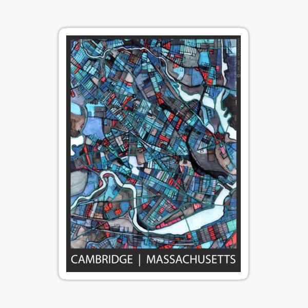 Cambridge, MA (Blue) Sticker