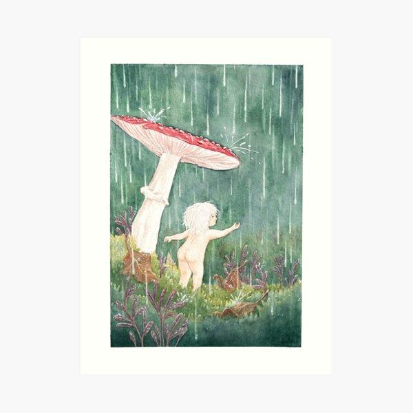 Fly Agaric in the rain Art Print