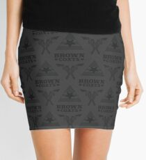 Browncoats forever, Firefly Pattern in Charcoal Mini Skirt