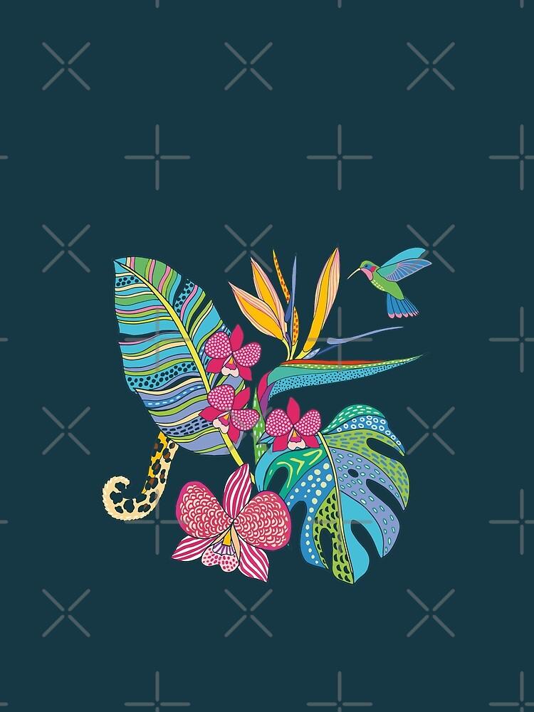 Bohemian Tropical Flowers by nadyanadya