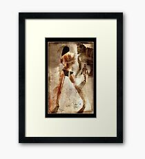 Trojan - a Greek Warrior and a girl Framed Print