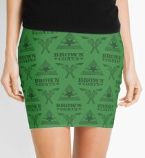 Browncoats forever, Firefly Pattern in Green Mini Skirt