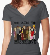 Magically Misbehaved Women's Fitted V-Neck T-Shirt